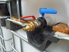 IBC Adapter f. Wassertank, Regenwassertank Anschluss Kugelhahn mit GeKa Kupplung