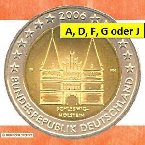 Sondermünzen BRD: 2 Euro Münze 2006 Holstentor Sondermünze zwei € Gedenkmünze SH