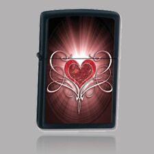 Vintage Retired Unstruck Zippo - Heart 28043 Valentines Day Love Heart
