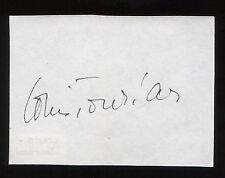 Louis Jourdan Signed Paper Signature Autographed Vintage