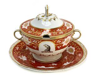 Chamberlain Regent Worcester English Porcelain Twin Handled Lidded Tureen c1870