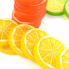 1/10/50pcs Artificial Plastic Lemon Slices Lifelike Decorative Fake Fruit New