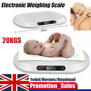 Baby Scales Electronic Digital Infant Pet Cat Baby Weighing Scale 20kg UK STOCK