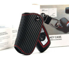 Real Leather Carbon Fibre Style Key Cover Case For BMW 1 2 3 4 5 6 7 Series