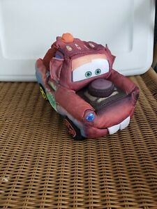 """Disney Pixar Cars 9"""" Plush Tow Mater Talking preowned tested works mouth moves"""