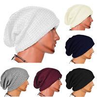 Women's Men Warm Winter Baggy Beanie Knitted Crochet Ski Hat Oversize Slouch Cap