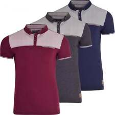 Mens Brave Soul Polo T Shirt Collar Smart Casual Short Sleeved Top Chest Pocket