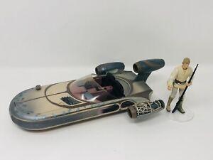 Star Wars Saga Series Landspeeder With Luke Skywalker 2002 Hasbro Custom Paint