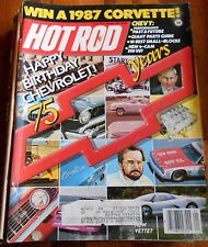 HOT ROD MAGAZINE Jan 1987-Chev 75th Anniversary