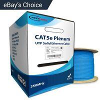 CAT5e Plenum 1000FT Bulk 350MHz CMP Networking Ethernet Cable Blue