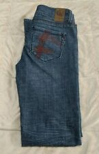Fragile American Beauty Junior's Low Rise Medium Wash Bootcut Jeans Size 5