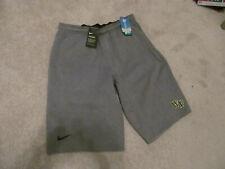 New Nike Wake Forest Demon Deacons Gray Gray Tech Fleece Basketball Shorts-L