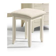 Stylish Stone White Julian Bowen Cameo Wooden Dressing Table Stool