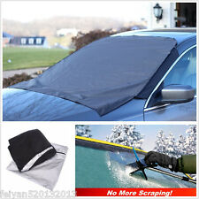 Car Front Windshield Snow Cover Frost Sun Shade Protect Tarp Flap Cover Magnet