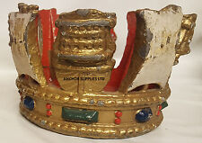 Extremely Rare - Queens Warship Coronet Flagstaff Flagpole Finial (2)