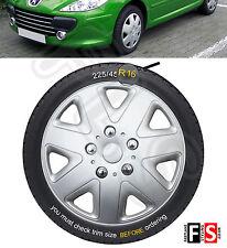 UNIVERSAL 16 INCH SILVER WHEEL TRIMS HUB CAPS COVERS SET OF 4 - Suzuki