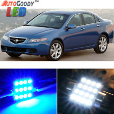12 x Premium Blue LED Lights Interior Package Kit for Acura TSX 2004-2008 + Tool