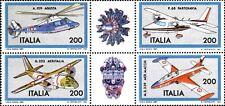 1981 ITALIA COSTRUZIONI AERONAUTICHE  4 VALORI BLOCCO  NUOVO ** MNH (C1555