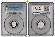 2007 AUSTRALIA 5 CENTS PCGS PR69DCAM ONLY 9 COINS GRADED HIGHER
