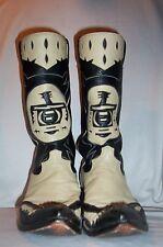 13.5 D 14 CABOOTS CHAMPION ATTITUDE EAGLE BLACK / BONE COWBOY BOOTS ROCKABILLY