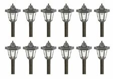 (12) Intermatic Malibu Outdoor Solar Landscape Yard Lights Pathway LED Black NEW