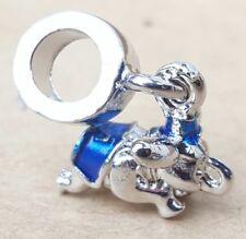Disney Dumbo Blue Flying Elephant Cartoon Bead fit European Snake Charm Bracelet