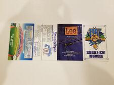 Kansas City Royals 1987 MLB Baseball Pocket Schedule - Lee