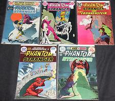 Vintage DC Bronze Age PHANTOM STRANGER 5pc Count Mid Grade Comic Lot VF