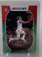 2020-21 Panini NBA Hoops Trae Young Green Parallel /99 Atlanta Hawks Card no. 46