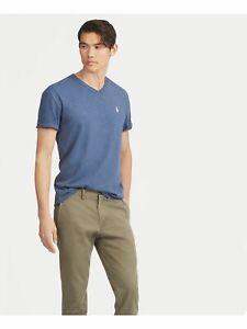 RALPH LAUREN Mens Blue Short Sleeve Classic Fit T-Shirt M