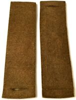 WWII AIRBORNE PARATROOPER BROWN FELT JUMP SHOULDER PADS FOR SUSPENDERS-PAIR