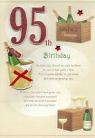 95th Happy Birthday Greeting Card Lovely Verse Embellished Greetings Cards