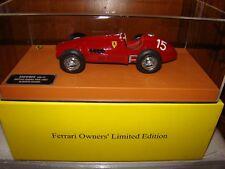 FERRARI 500F2 1953 FERRARI OWNERS ALBERTO ASCARI EDITION 1/18 LIMITED EDITION