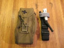 North American Rescue US Navy Combat Medic Coyote Pouch with Contents Made n USA
