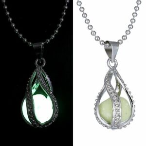 HOT Glowing Magic Charm Locket Glow In The Dark Animal Pendant Necklace Gifts