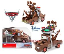 Disney Store Cars 3 Die Cast Collector Case Box Mater Race Track Hat 1:43 NEW