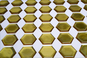 Design your own 3D Gel Tank Pad 70 Gold Hexagons each one measures 27mm x 27mm