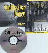 SYNTHESIZER DANCE VOLUME.5-SWITZERLAND-HYPERSOUND RECORDS HYPS 71018-CD-NEW