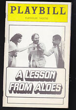 A Lesson from Aloes Playbill December 1980 James Earl Jones, Maria Tucci