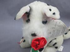 NEW VALENTINE DALMATIAN FIRE HOUSE PUPPY DOG SILK ROSE PLUSH STUFFED ANIMAL