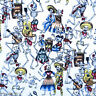 """fat quarter CREAM day of the dead musical skeletons fabric 100% cotton 18 x 22"""""""