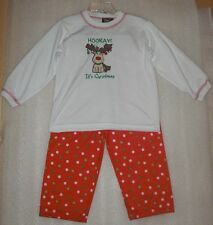 NWT Boy's Tom & Jerry Red & White Holiday Christmas Sleep Pajamas Size 3T