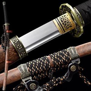 Traditional Japanese Tachi,Handmade 9260 Spring Steel Samurai Sword Full Tang