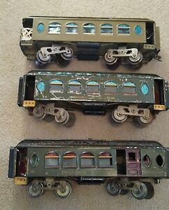 LIONEL PREWAR STANDARD GAUGE 18/19/190 NEW YORK CENTRAL PASSENGER CARS