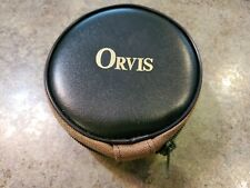 ORVIS Canvas Zipper Fishing Reel Protective Storage Bag Pouch