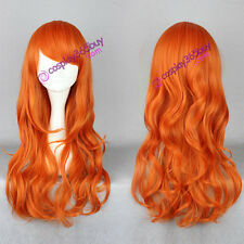 One piece cosplay Nami cosplay wig two years later nami wig long curly women wig