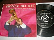 SIDNEY BECHET INTERPRETE PAR JOE BROWN ET SA FORMATION EP SAPPHIR LDP 5040 MONO