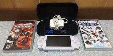 Sony PSP 3000 Pearl White + 2 Games + 1GB Memory Card + Micro SD Adapter + Case