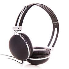 RockPapa Teens Kids Boys Girls Adults Stereo Headphones Tablet MP3 PC MP4 Black