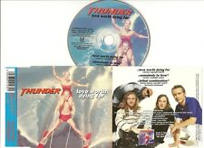 """THUNDER CD SINGLE """"LOVE WORTH DYING FOR"""" 1997 CASTLE RAWX 1043 SOMEBODY TO LOVE"""